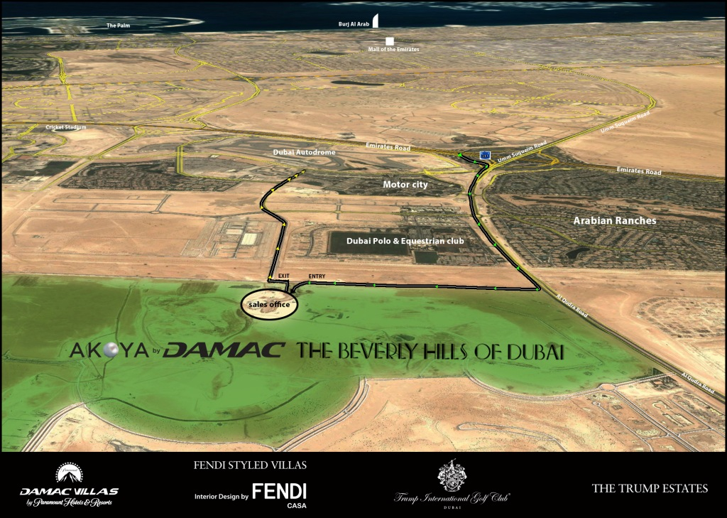 Akoya by DAMAC Location Map