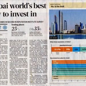 Dubai world best city to invest in